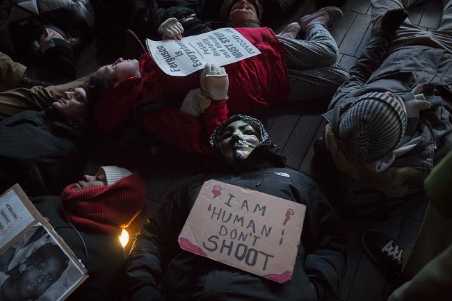 a die-in demonstration