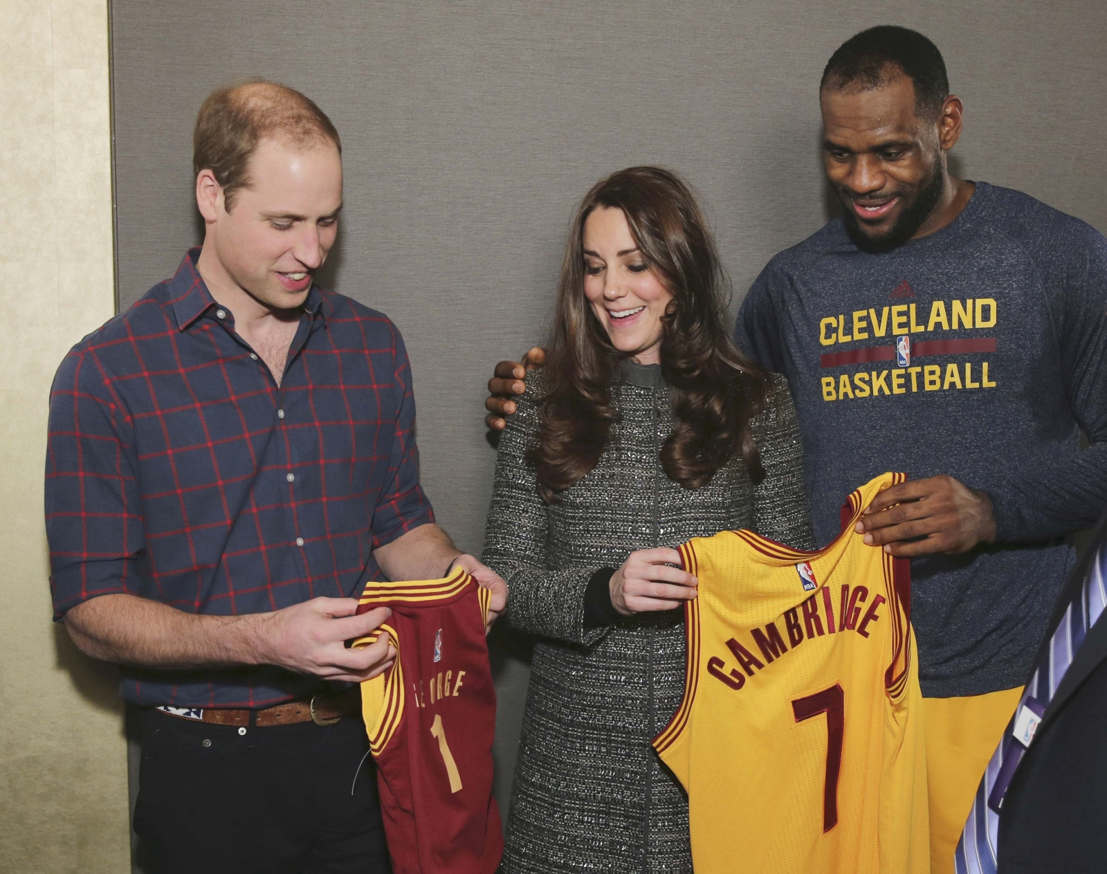 William and Kate meet basketball royalty Lebron James