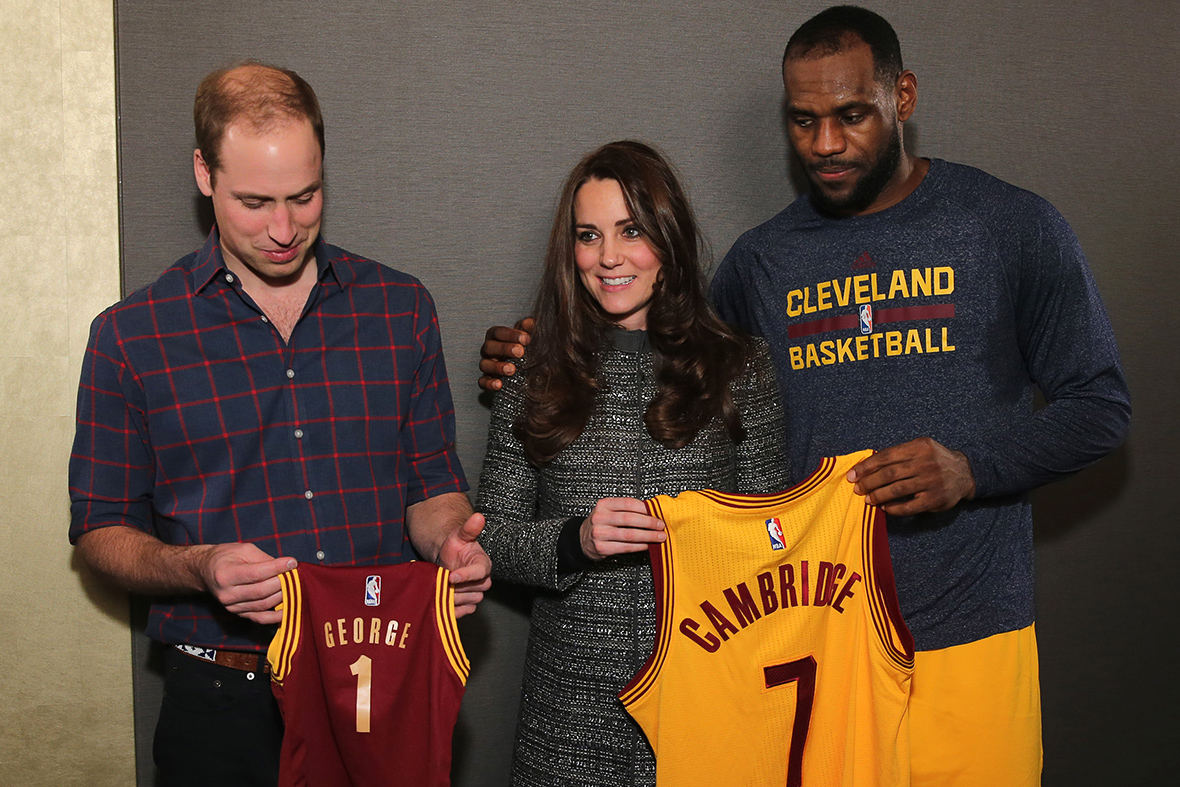 prince william kate lebron