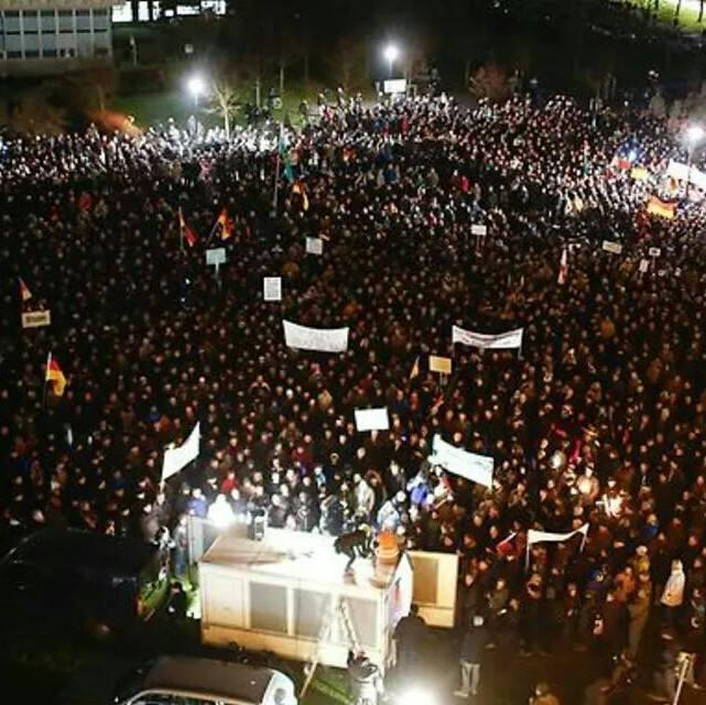 anti islam pegida protests Germany