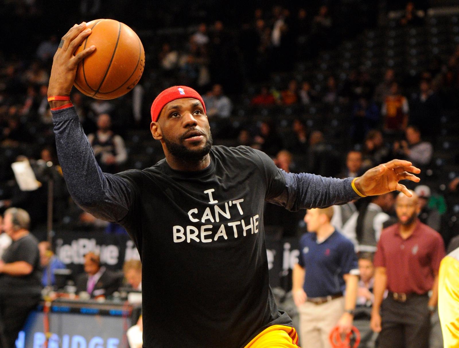 LeBron James I can't breathe t-shirt protest Eric Garner