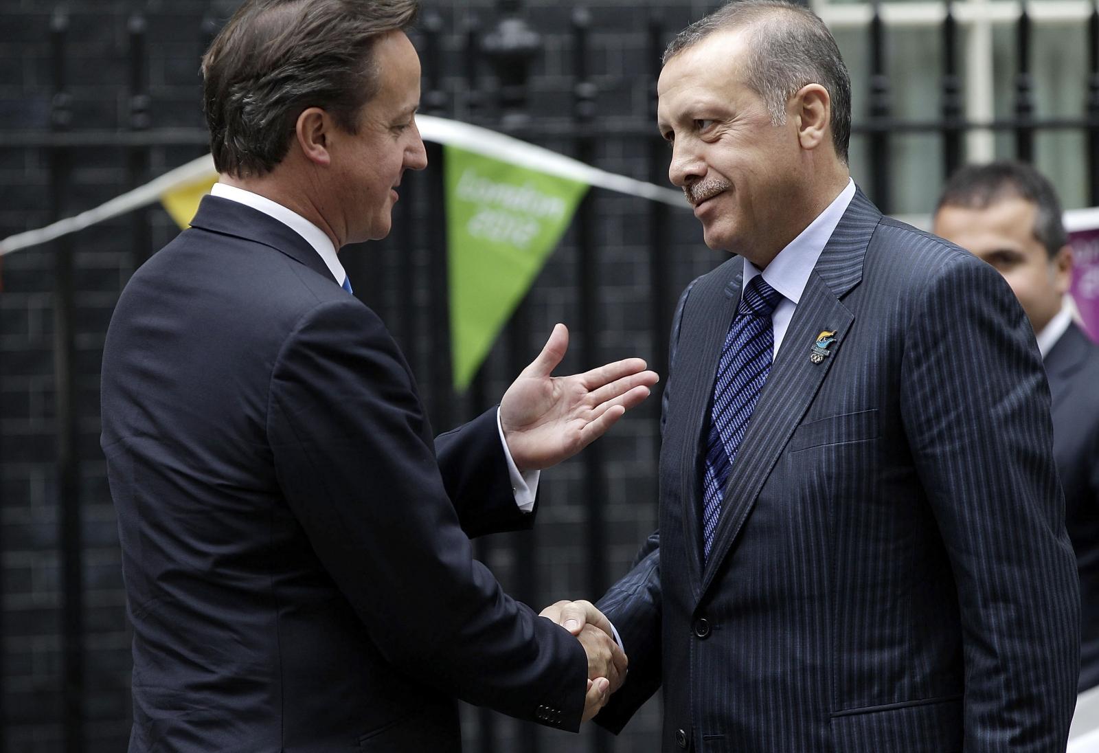 Cameron and President Recep Tayyip Erdogan