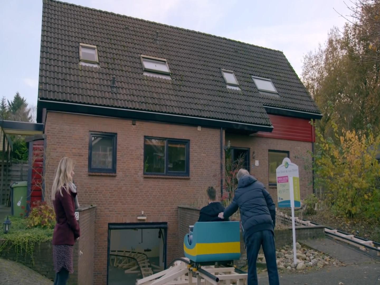 Rollercoaster built inside house for Dutch advert