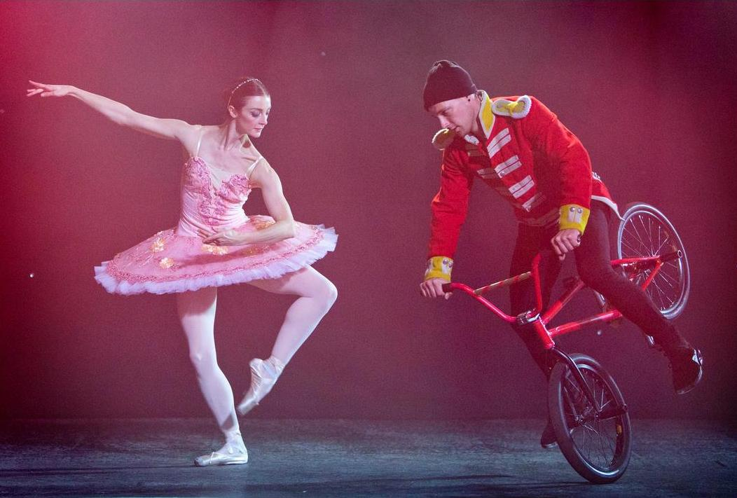 Ballerina v BMX stunt rider in Nutcracker dance-off