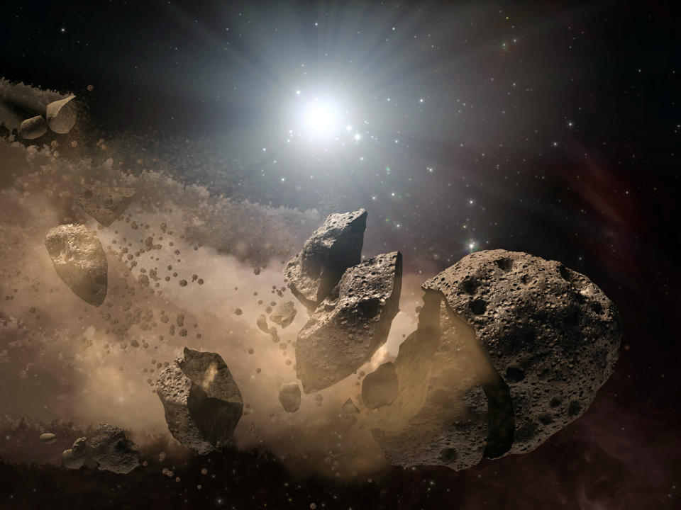2014 UR116 is a 400-metre sized asteroid has a three year orbital period around the sun
