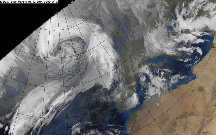 The meteorological phenomena known as rapid or explosive cyclogenesis, or weather bomb
