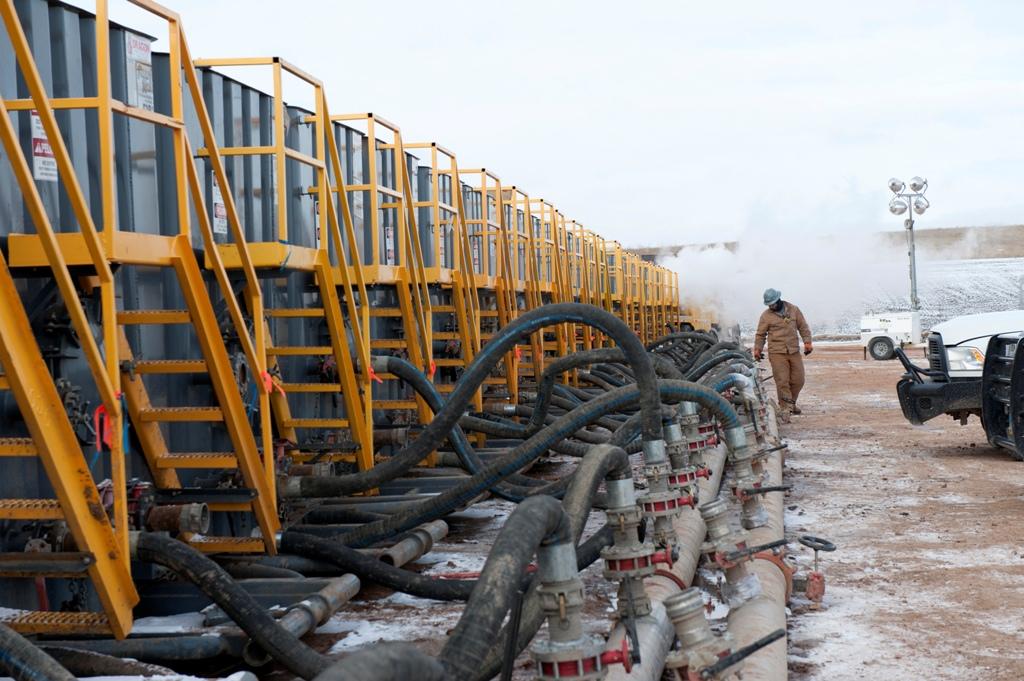 Hess Fracking Site
