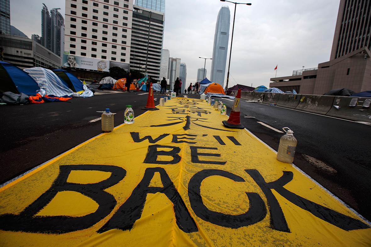 hong Kong protest camp