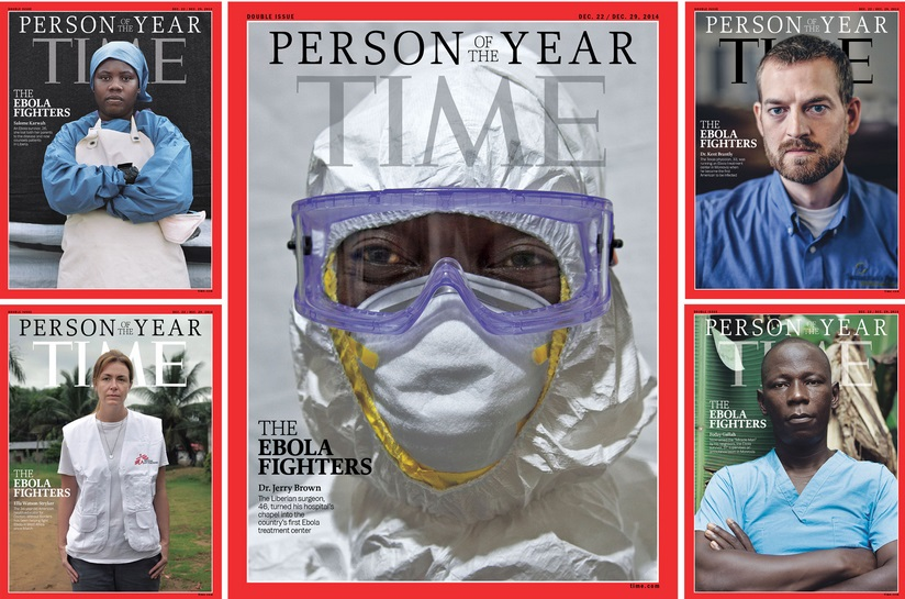 Time magazine annoints medics fighting ebola as 'person of the year'