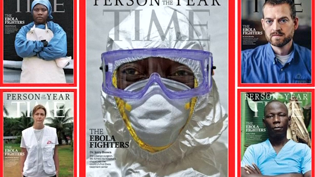 Ebola survivors and doctors named 'person of the year' by Time