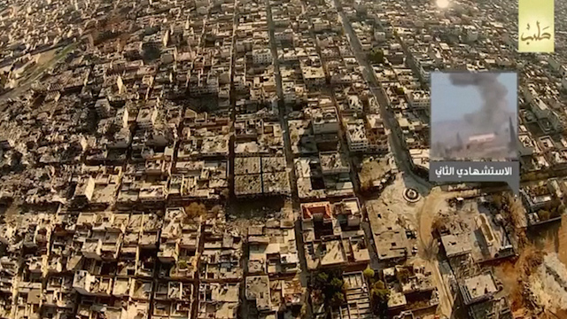Islamic State's drone footage purporting to show suicide bombings
