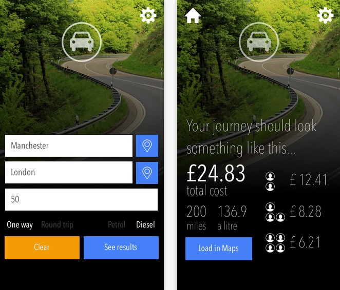 UK Fuel Calculator app