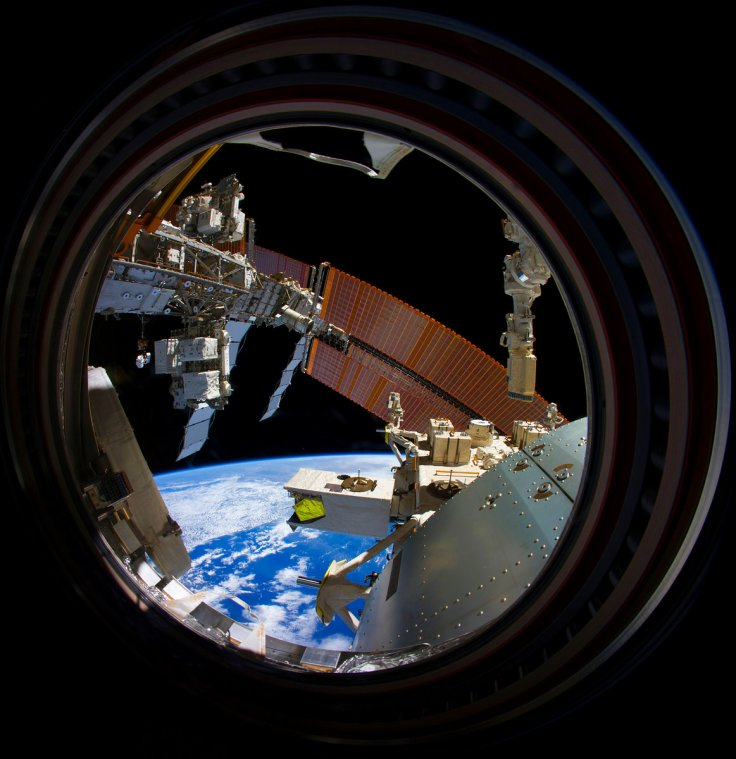 The ISS from the port hole