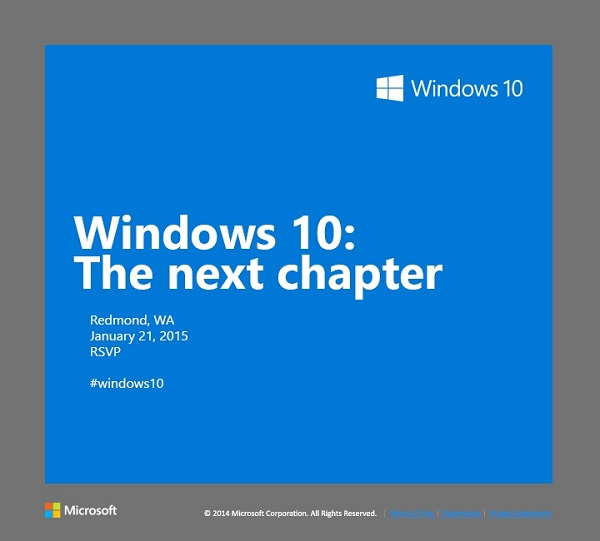 Windows 10 Consumer Preview Launched 21 January