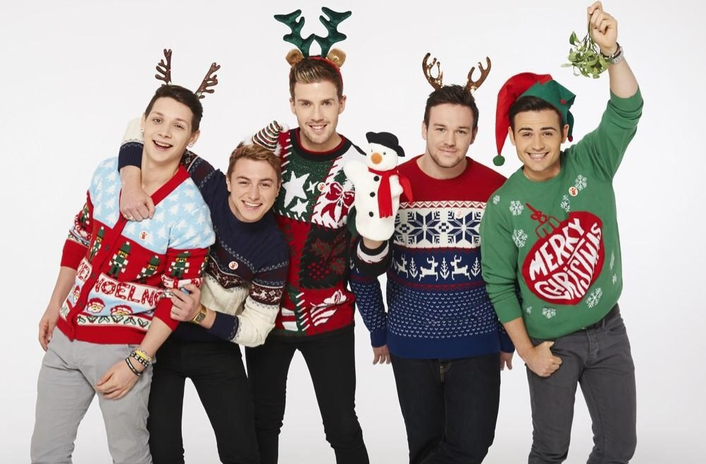 Christmas Jumper Day: Pharrell, Myleene Klass and other celebrities show off novelty knits