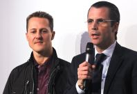 Philippe Gaydoul (right) with Michael Schumacher during happier time in 2010