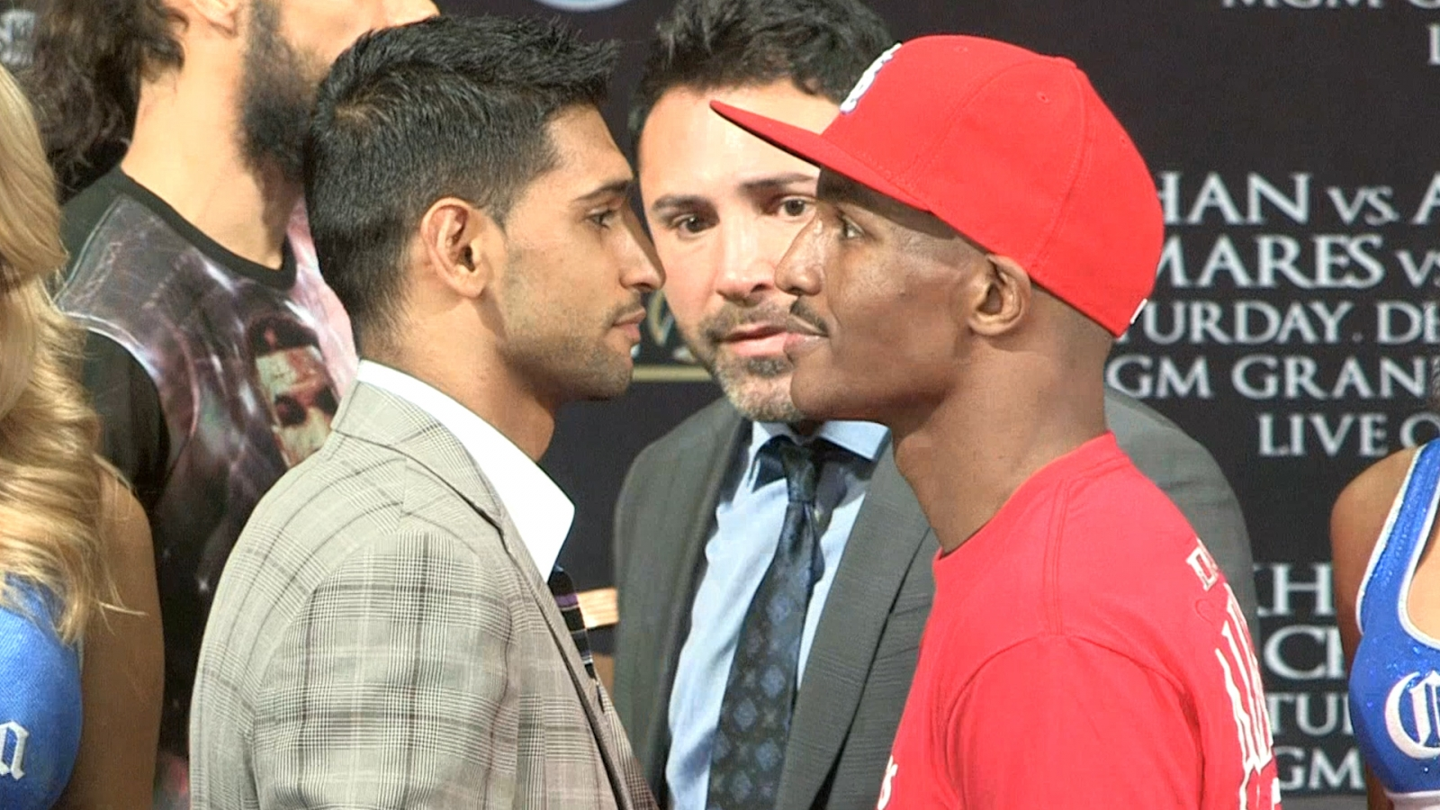 Amir Khan and Devon Alexander square up ahead of fight