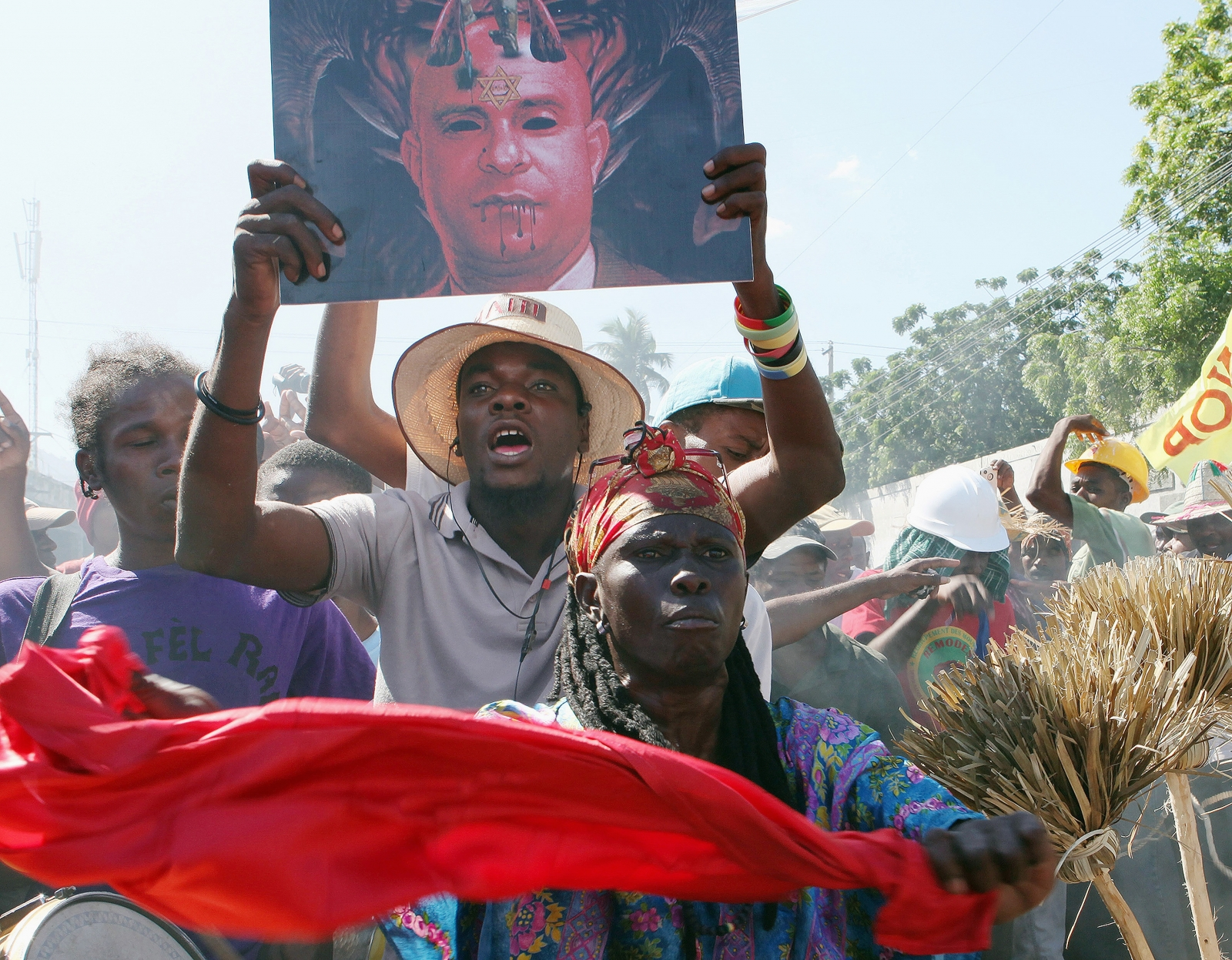 Protesters in Haiti