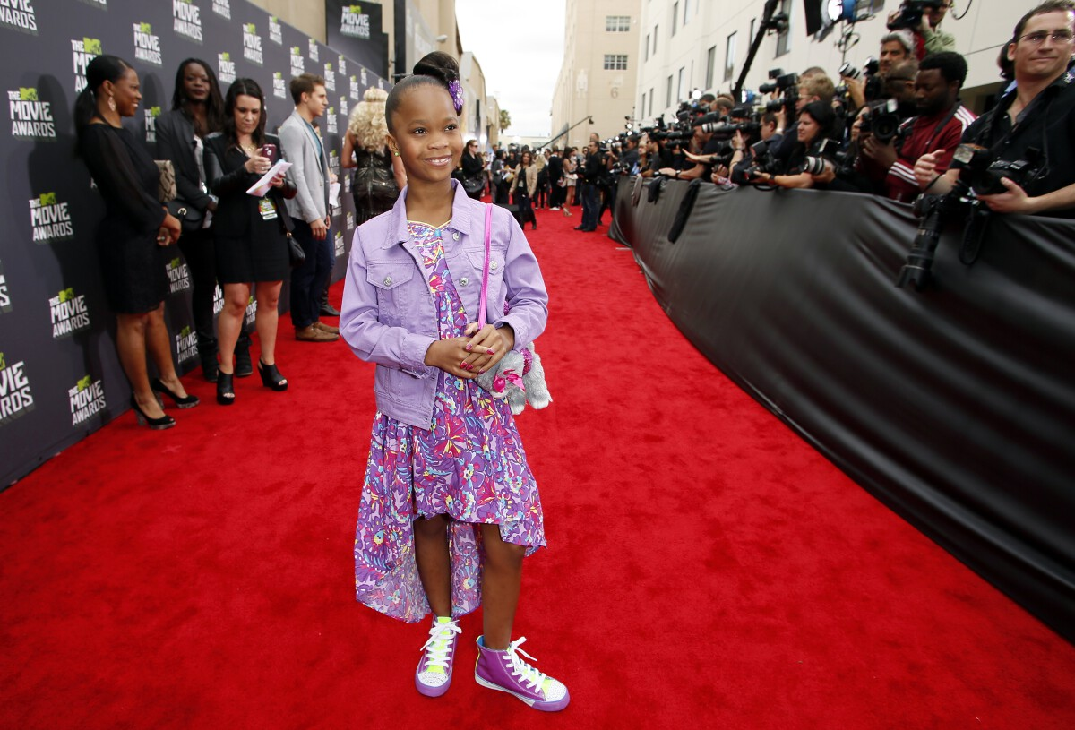 Quvenzhane Wallis Golden Globes 2015 nominee