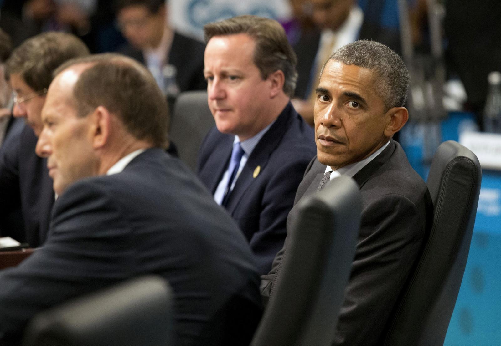 Cameron, Abbott and Obama