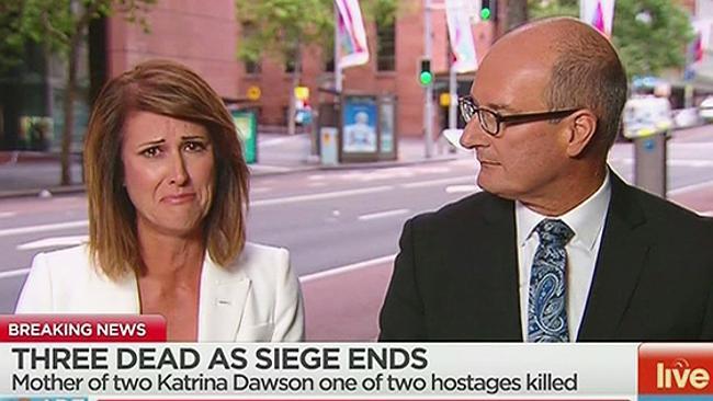 Sydney Siege Channel 7 host Natalie Barr Tears