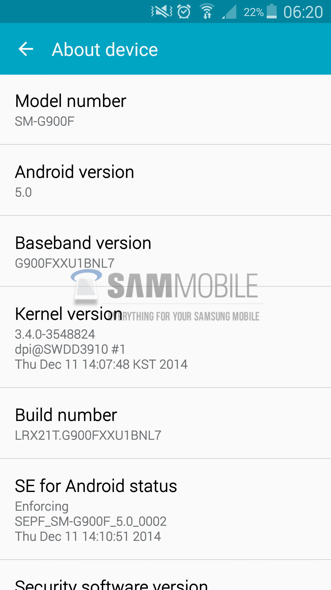 Galaxy S5 tastes another Android 5.0 Lollipop update with build G900FXXU1BNL7 official firmware