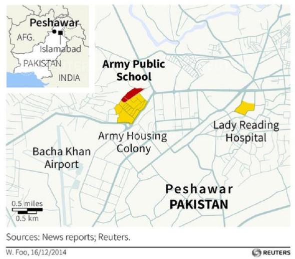 Peshawar school attack massacre at Pakistan school Taliban terrorists disguised as soldiers
