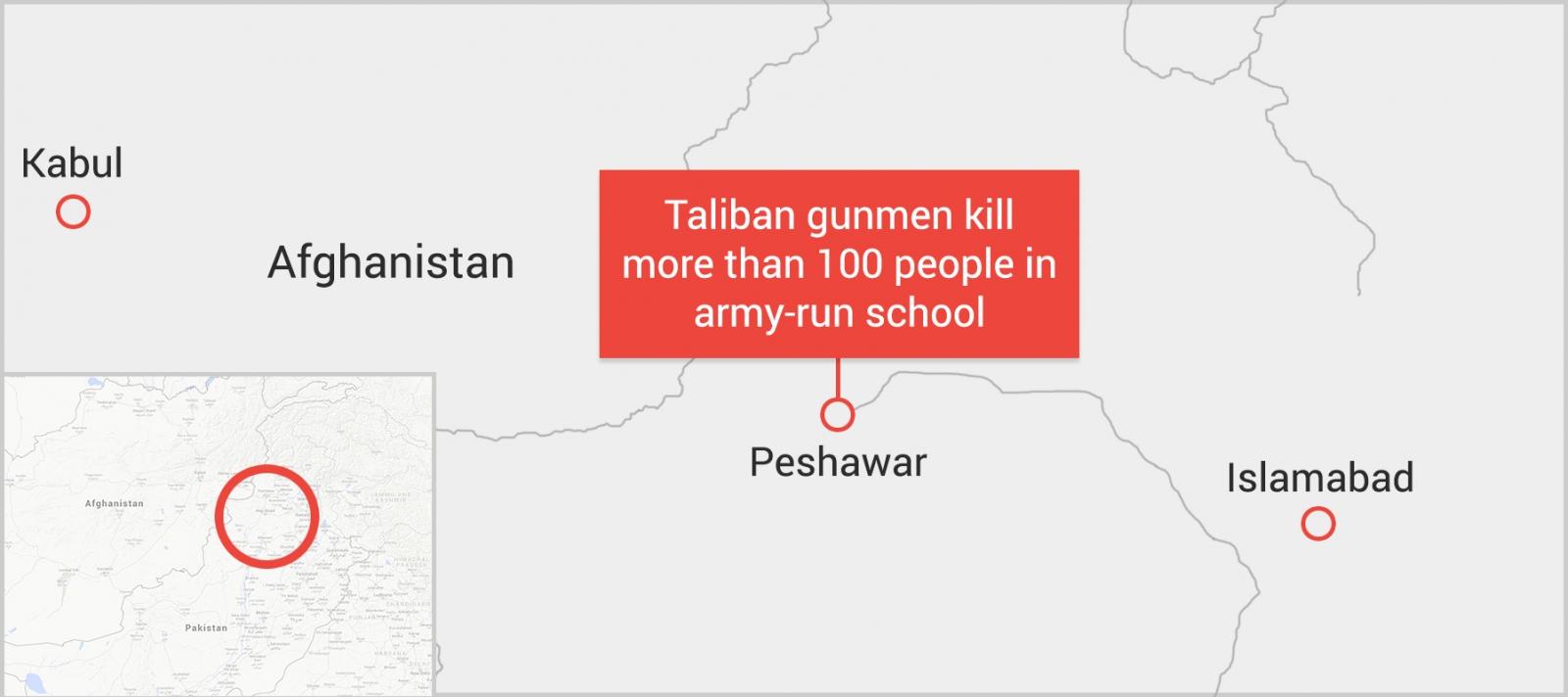 Peshawar school attack Pakistan Taliban terrorists