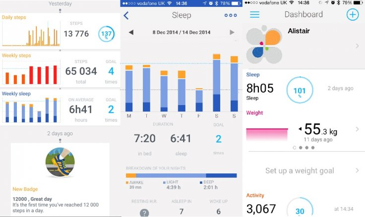 Withings Activité app