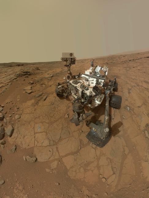 Self-portrait of NASA's Mars rover Curiosity combines dozens of exposures taken by the rover's Mars Hand Lens Imager
