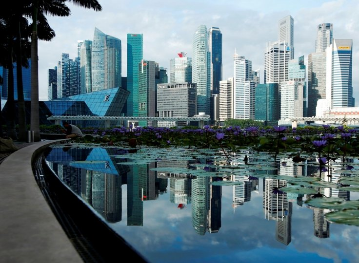 Singapore Skyline and Financial District
