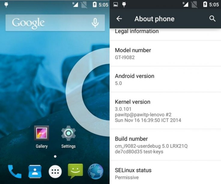 Unofficial CyanogenMod 12 build featuring Android 5 0 released for