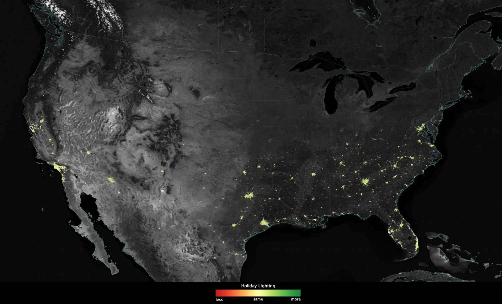christmas lights from space