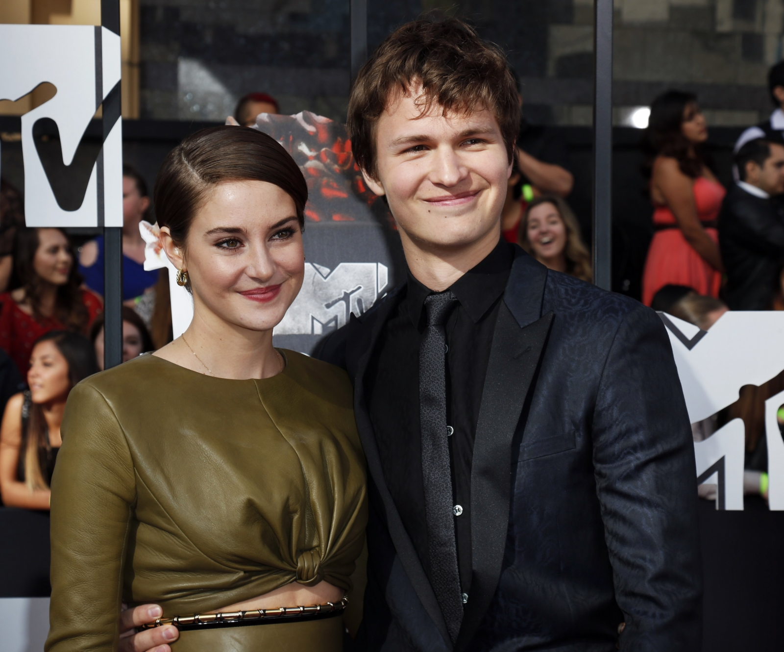 Ansel Elgort was rumoured to be dating Shailene Woodley.