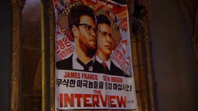 A poster for The Interview