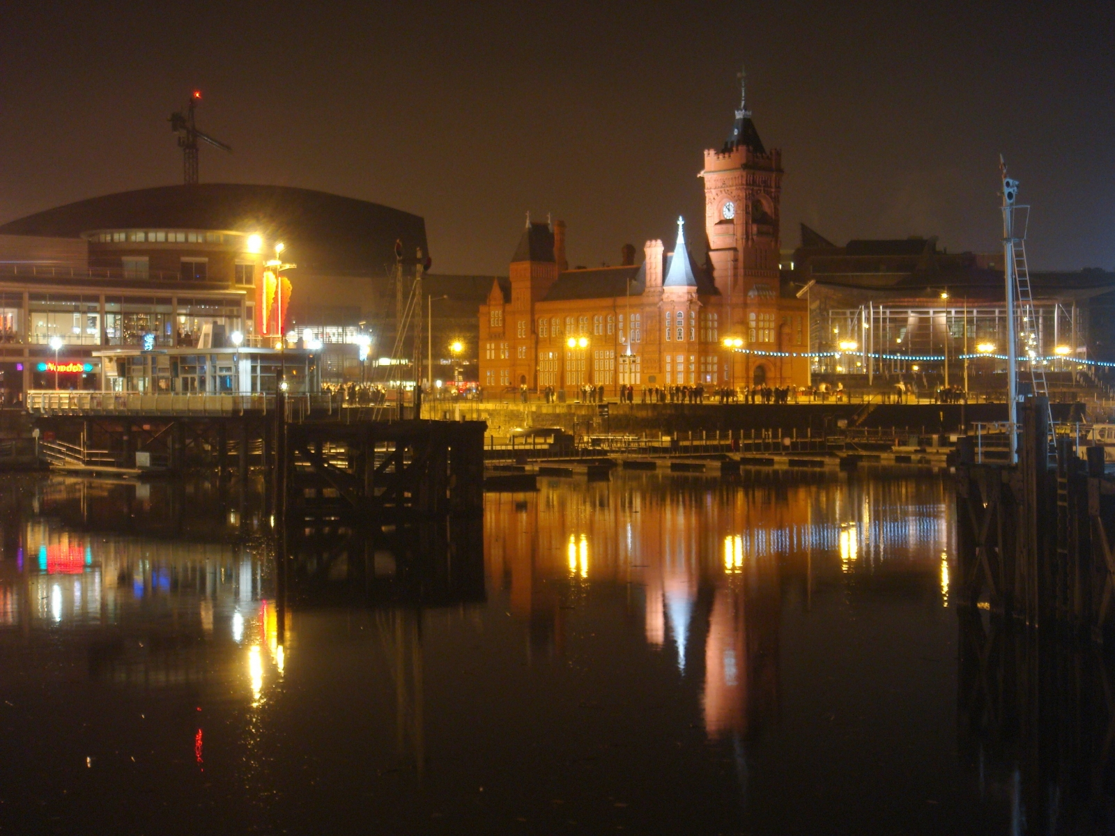 Cardiff bay new year's