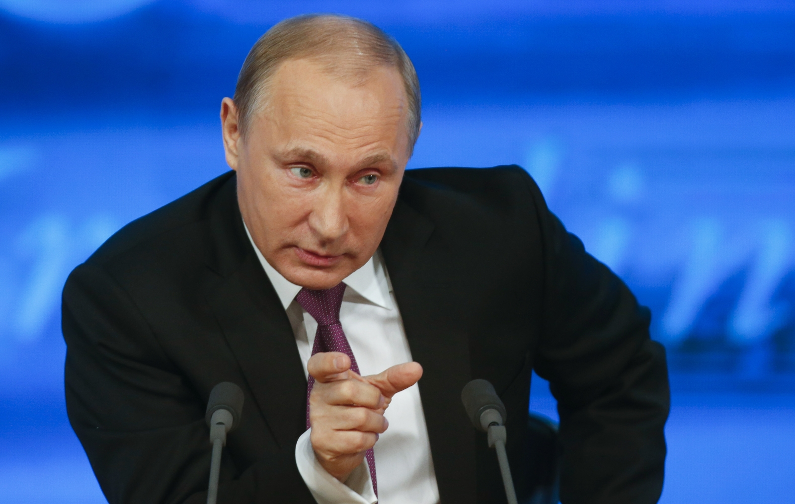 Russian President Vladimir Putin speaks during his annual end-of-year news conference in Moscow, December 18, 2014. Putin said on Thursday the government had to take additional measures to forge economic stability.