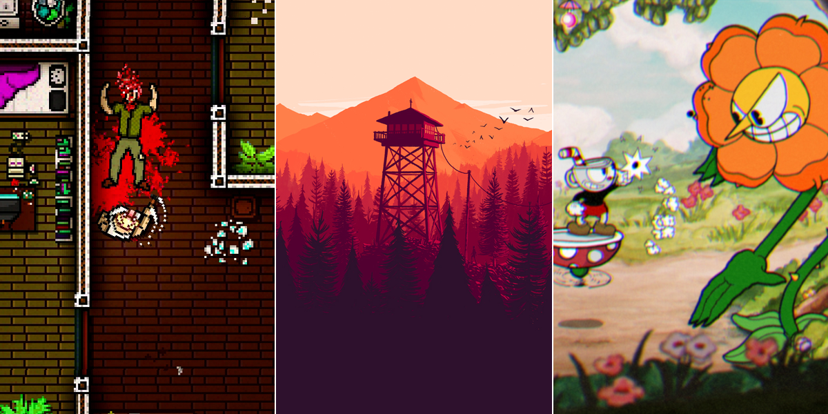 indie games 2015 hotline miami firewatch cuphead