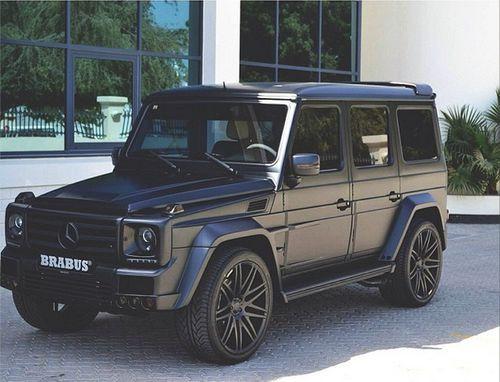Matte Black SUV