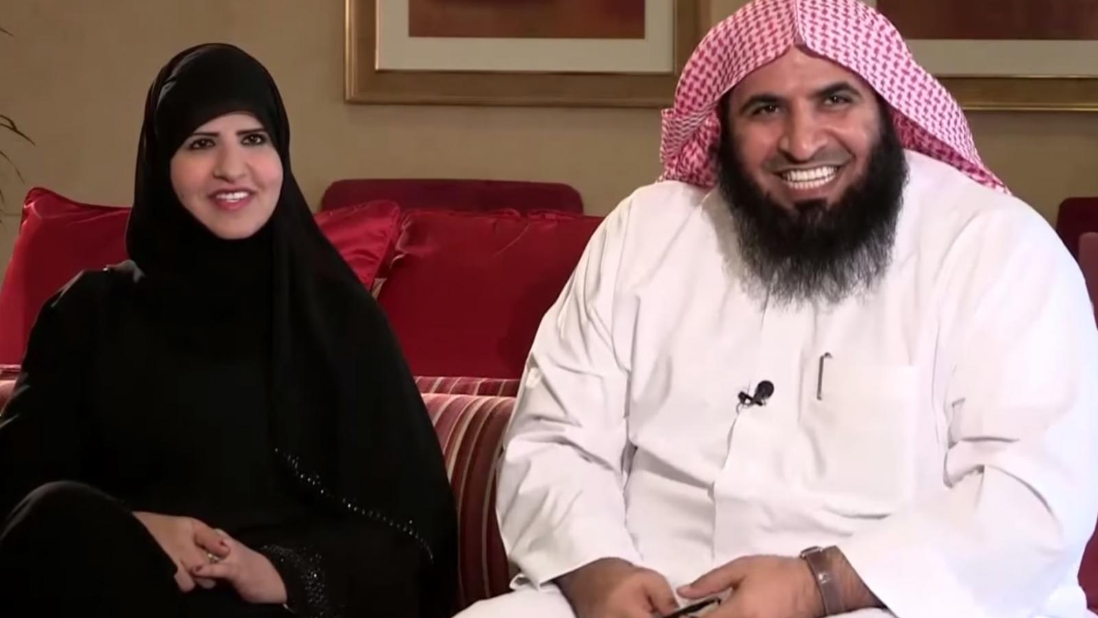 Saudi cleric Sheikh Ahmad al-Ghamedi's wife face uncovered TV