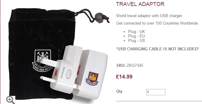 West Ham adaptor