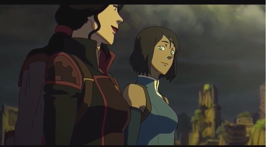 The legend of Korra Lesbian romance? Korra and Asami ended up together in series finale