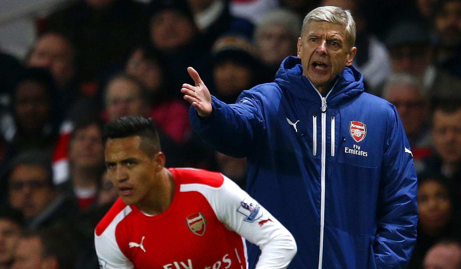 Arsene Wenger and Alexis Sanchez