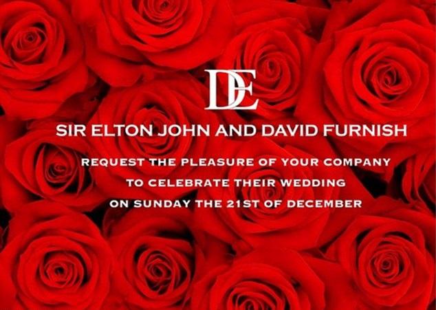Elton John David Furnish wedding