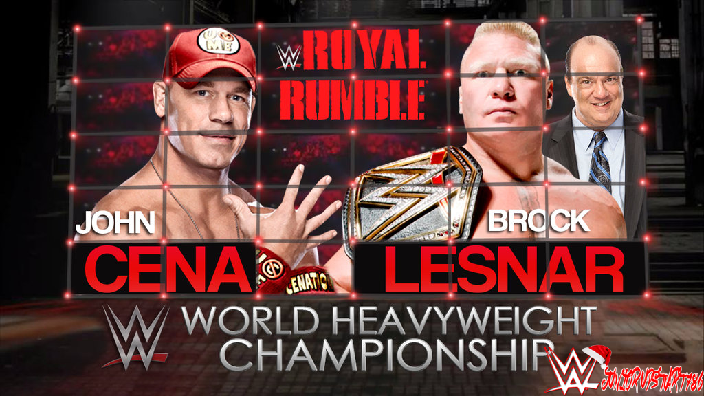 WWE Royal Rumble 2015 The Upcoming World Heavyweight Championship Match Between John Cena And Brock Lesnar