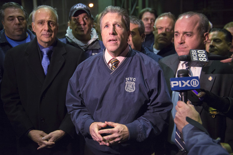 Pat Lynch of the NYPD Patrolmen's Benevolent Association