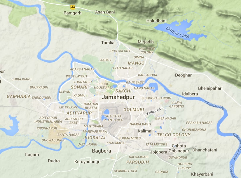 Jamshedpur in India, where a man has been arrested for decapitating his wife