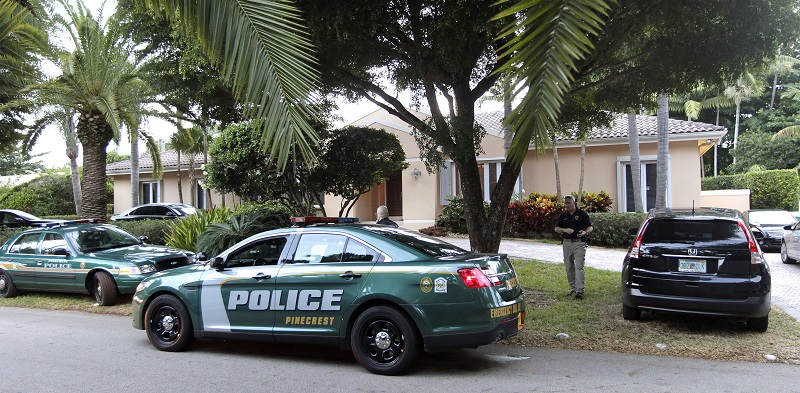 A Florida police officer has been shot after authorities were called to a disturbance at a local residence