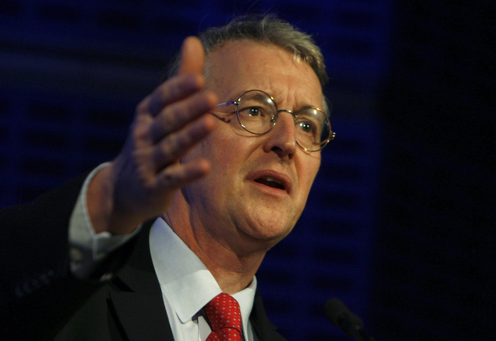 Hilary Benn spoke at Labour's annual conference