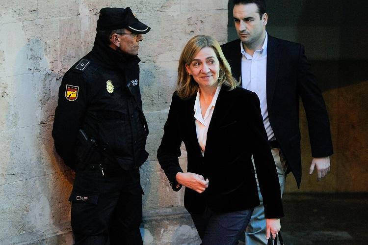 Princess Cristina of Spain leaves the Palma de Mallorca Courthouse